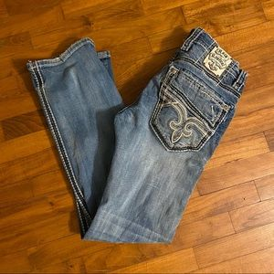 Rock Revival    Men's Bootcut Distressed Jeans